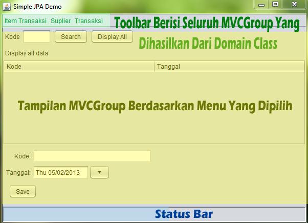 Tampilan Startup Group